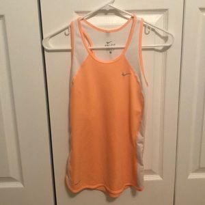 🌻 3/$15 Nike Orange and White Tank Top